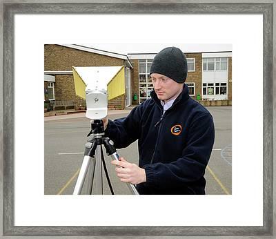 Background Radiation Monitoring Framed Print