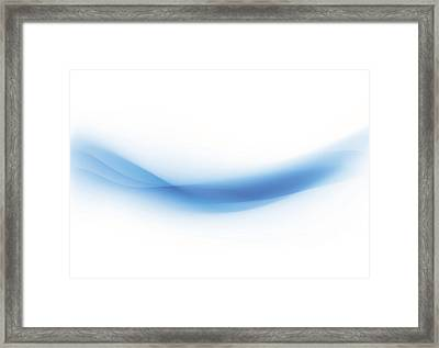Background Swirl Blue Framed Print by Iconeer