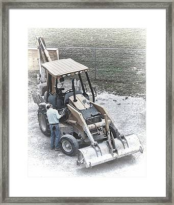 Backhoe  Framed Print by Rudy Umans