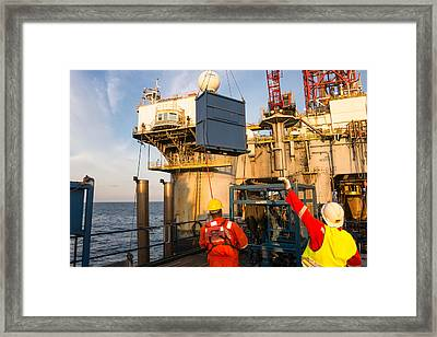 Backloading Equipment Framed Print