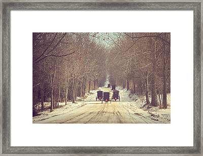 Backroad Buggies Framed Print by Carrie Ann Grippo-Pike