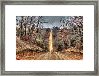 Backroad Framed Print