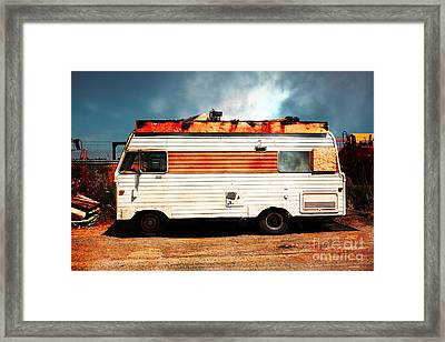 Backroads Americana Abandoned Recreational Vehicle Rv 5d22705 Framed Print by Wingsdomain Art and Photography