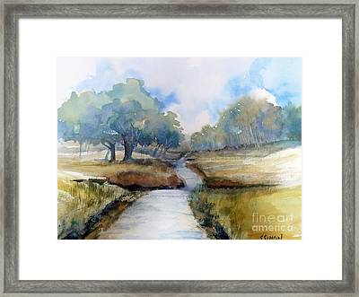 Framed Print featuring the painting Backroads Of Georgia by Sally Simon