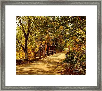 Backroads River Bridge Framed Print by Robert Frederick