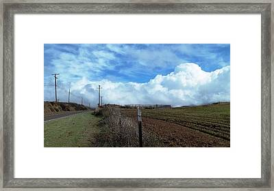Backroads- Telephone Poles- And Barbed Wire Fences Framed Print by Glenn McCarthy Art and Photography