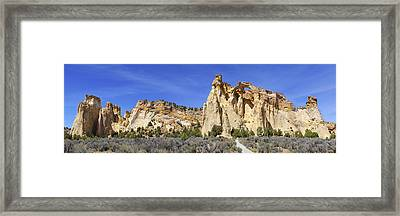 Backroads Utah Panoramic 2 Framed Print by Mike McGlothlen