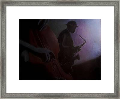 Backroom Blues Framed Print by D Rogale