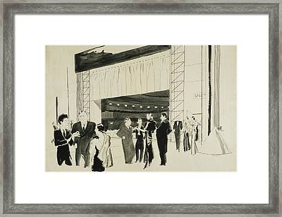 Backstage At The Ballet Russe Framed Print by Jean Pages