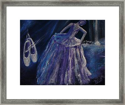 Backstage Framed Print