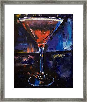 Backstage Martini Framed Print by Michael Creese
