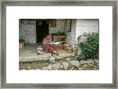 Backstrap Loom 2 Framed Print