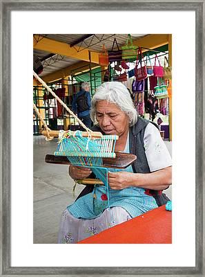 Backstrap Loom Weaver Framed Print by Jim West