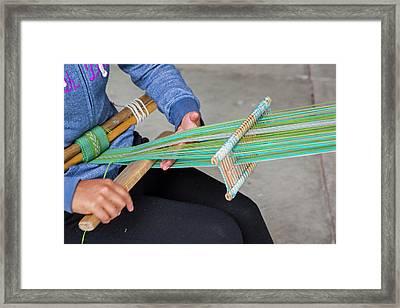 Backstrap Loom Weaving Framed Print by Jim West