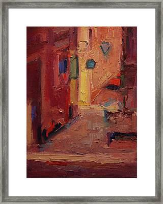 Backstreet In Sienna Framed Print by R W Goetting