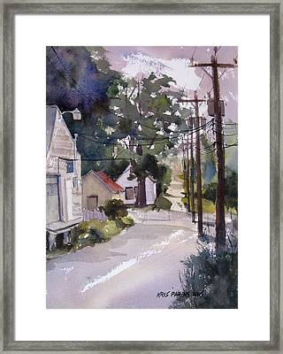 Backstreet Framed Print by Kris Parins