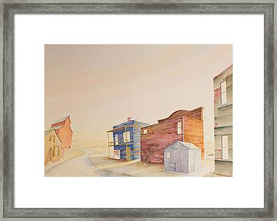 Backstreet Nebraska Framed Print
