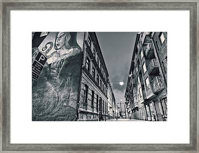 Backstreets Framed Print
