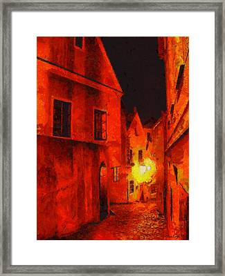 Backstreets Of Prague Framed Print