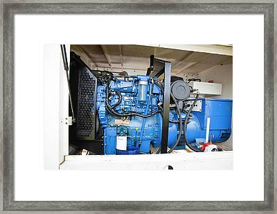 Backup Diesel Generators Framed Print