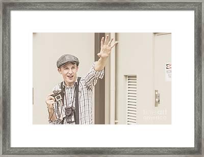 Backup Photo Journalist  Framed Print by Jorgo Photography - Wall Art Gallery