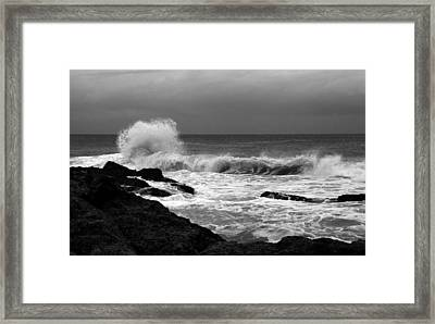 Backwash 5 Framed Print by Noel Elliot