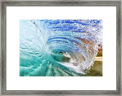 Backwash Flare Framed Print by Gregg  Daniels