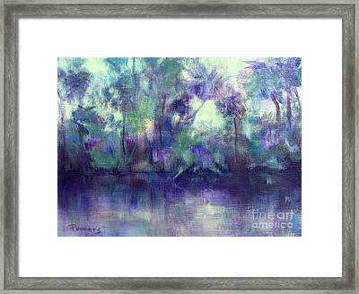 Backwater Framed Print by Mary Lynne Powers