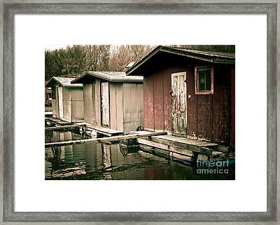 Framed Print featuring the photograph Backwater Trio by Kari Yearous