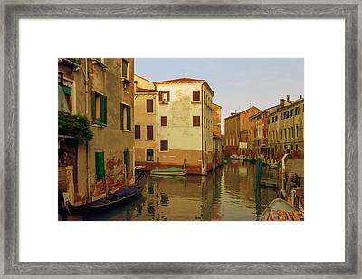 Backwaters Of  Of Venice Framed Print