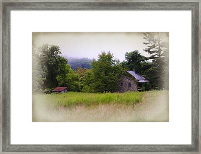 Backwoods Cabin Framed Print by Bill Cannon