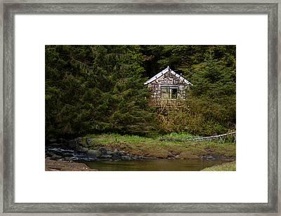 Backwoods Shack Framed Print