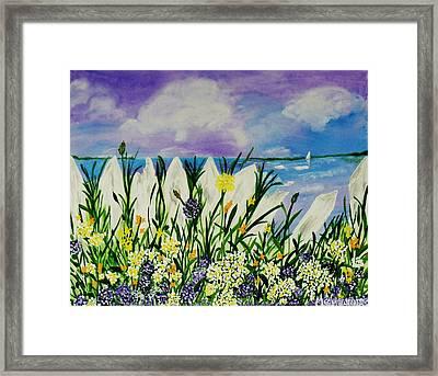 Backyard Beach Framed Print