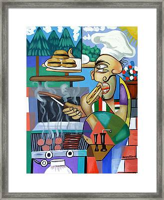 Backyard Chef Framed Print by Anthony Falbo