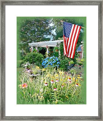 Backyard Paradise Framed Print