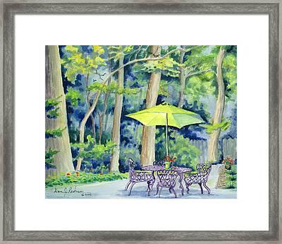 Framed Print featuring the painting Backyard Retreat by Dan Redmon