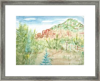 Backyard Sedona Framed Print