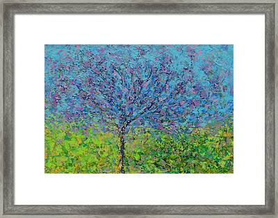 Purple Tree Framed Print by Kat Griffin