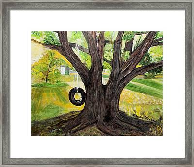 Backyard Tree Memories Framed Print by Susan Abrams