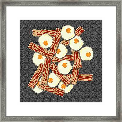 Bacon And Eggs Framed Print by Ym Chin