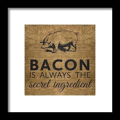 Bacon Framed Prints