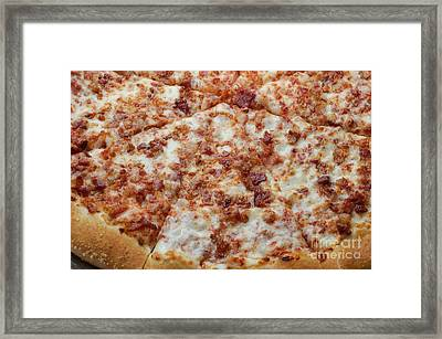 Bacon Pizza 1 - Pizzeria - Pizza Shoppe Framed Print by Andee Design
