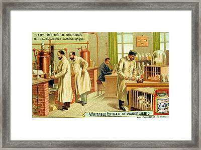 Bacteriological Laboratory Framed Print