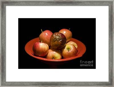 Bad Apple Framed Print