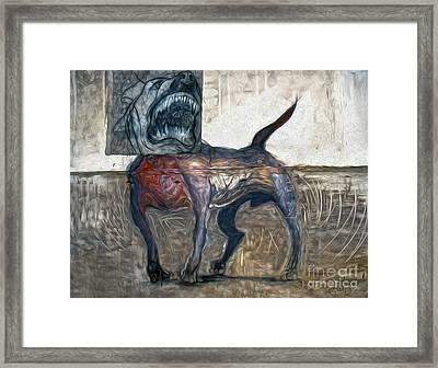 Bad Dog Framed Print by Gregory Dyer
