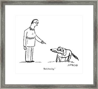 Bad Drawing Framed Print