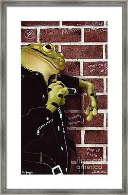 Bad Froggie... Framed Print by Will Bullas