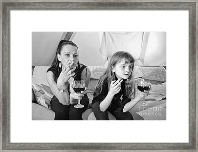 Bad Girls Framed Print