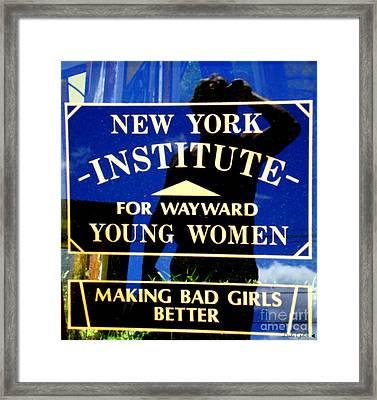 Bad Girls Framed Print by Linda Galok