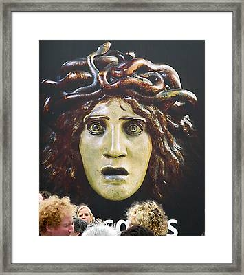 Framed Print featuring the photograph bad hair day at d'Orsay museum, Paris.  by Joe Schofield